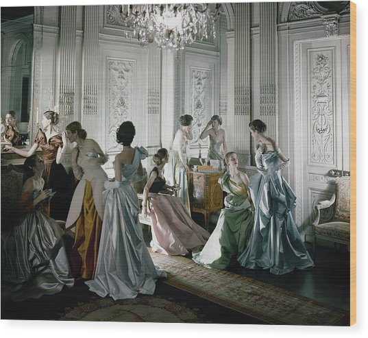 Charles James Gowns Wood Print by Cecil Beaton