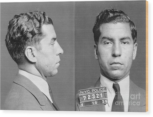 Charles Lucky Luciano Wood Print