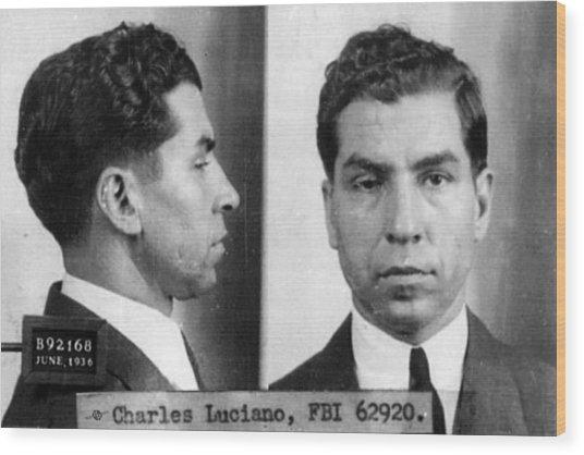 Charles Lucky Luciano Mug Shot 1931 Horizontal Wood Print