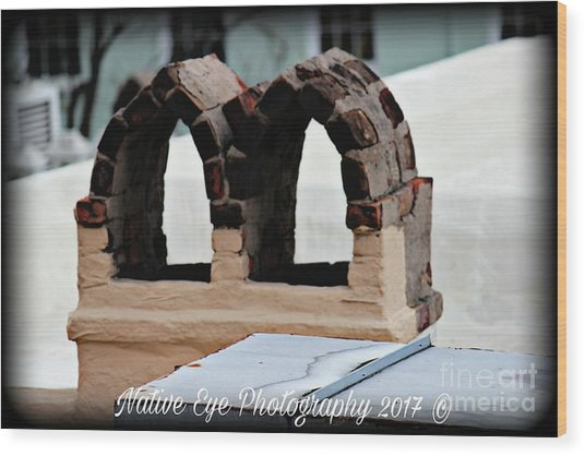 Charleston Chimneys 101 Wood Print