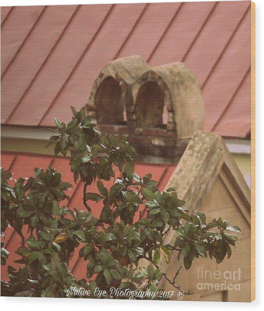 Charleston Chimneys 102 Wood Print