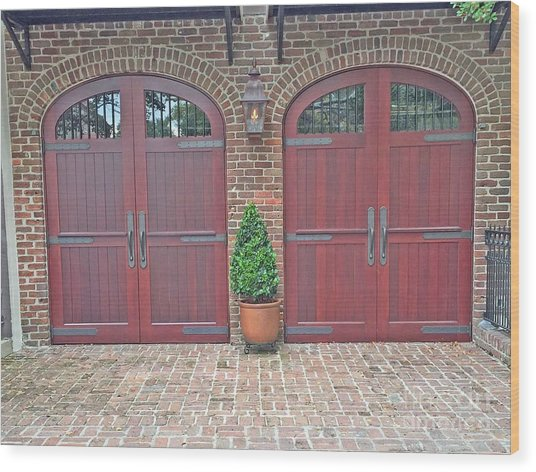 Charleston Doors Wood Print