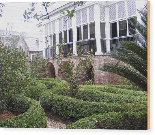 Charleston Garden South Battery Street Wood Print by Elena Tudor