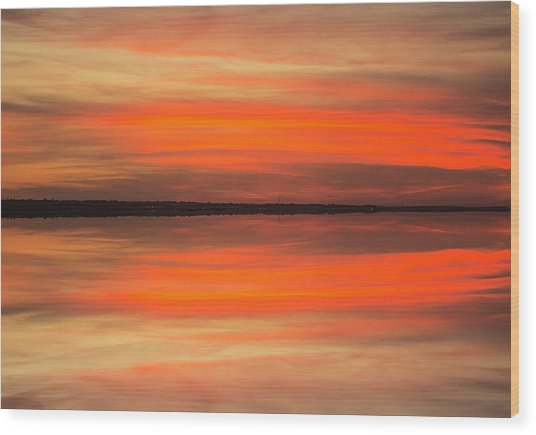Wood Print featuring the photograph Charleston Harbor Sunset 05 by Jim Dollar