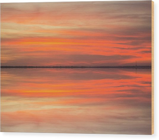 Wood Print featuring the photograph Charleston Harbor Sunset 2017 11 by Jim Dollar