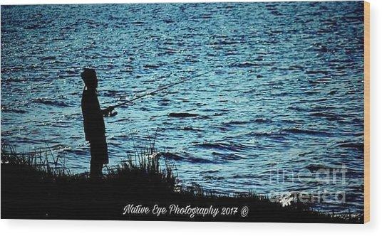 Charleston Morning Fishing Wood Print