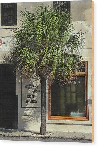 Charleston Sidewalk Invitation Wood Print