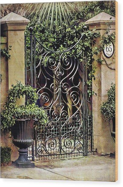 Charleston South Carolina Wrought Iron Gates Wood Print