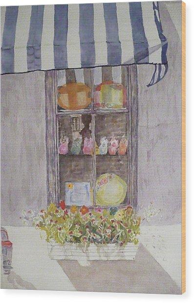 Charleston Window Wood Print by Stella Schaefer