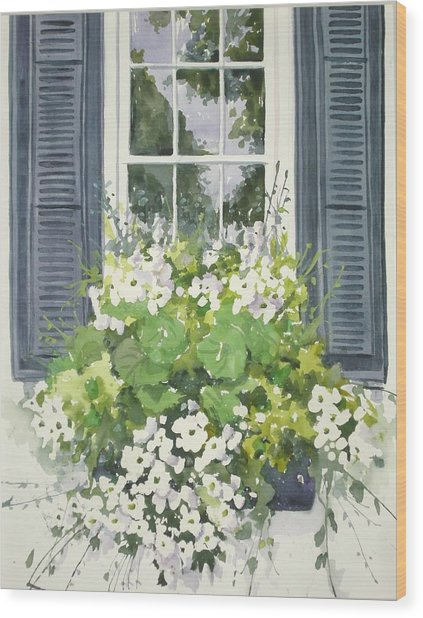 Charleston Windowbox Wood Print