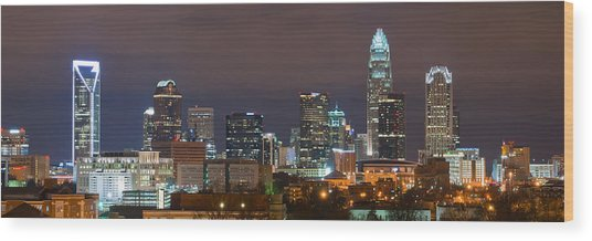 Charlotte Skyline 2012 Wood Print by Brian Young