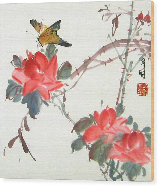 Charm Of Nature Wood Print by Ming Yeung
