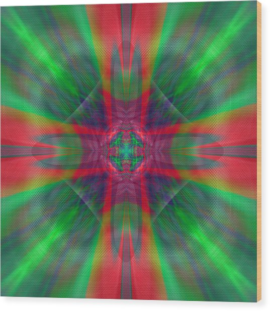 Charmed Luminescence Wood Print
