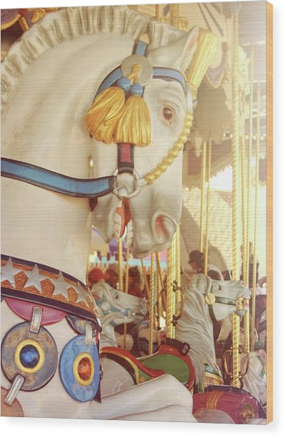 Charming Chariot Wood Print by JAMART Photography