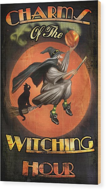 Charms Of The Witching Hour Wood Print