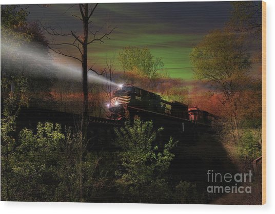 Chasing Twilight Wood Print
