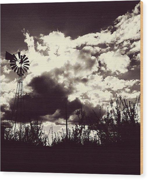 Chasing Windmills Wood Print