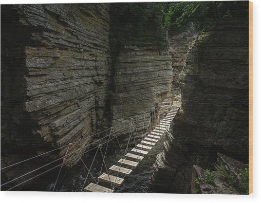 Chasm Bridge Wood Print