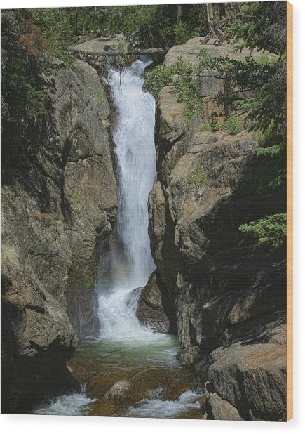 Chasm Falls Off Old Fall River Road Wood Print