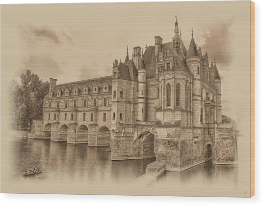 Chateau De Chenonceau Wood Print