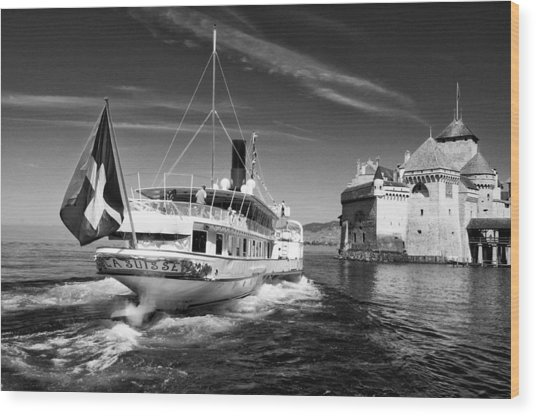 Chateau De Chillon, Steamboat Wood Print