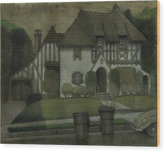 Chateau In The City Wood Print