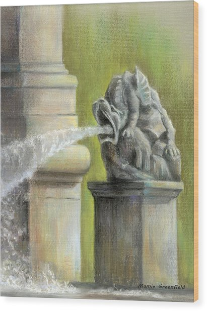 Chatsworth Gargoyle Wood Print
