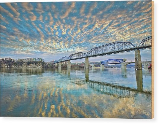 Chattanooga Has Crazy Clouds Wood Print
