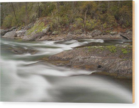 Chattooga River 23 Wood Print by Derek Thornton