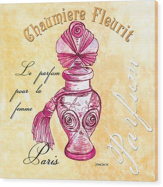 Chaumiere Fleurit Wood Print
