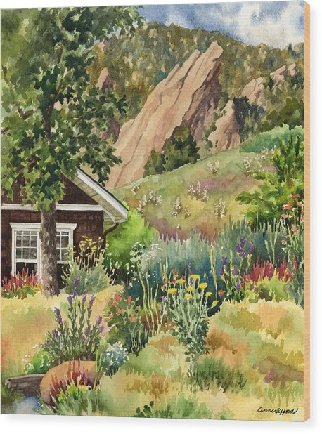 Chautauqua Cottage Wood Print