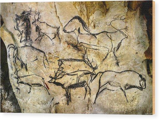 Chauvet Deer Wood Print