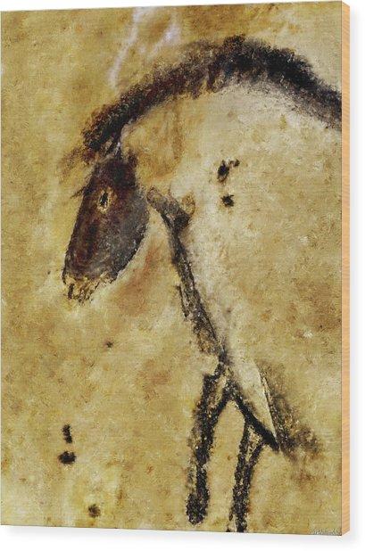 Chauvet Horse Wood Print