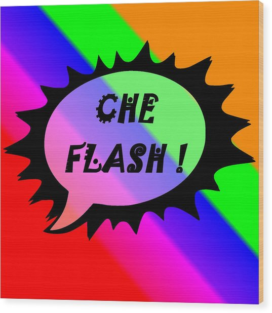 Che Flash Wood Print