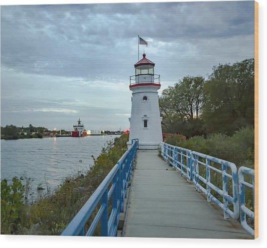 Cheboygan Crib Lighthouse Lake Huron, Lower Peninsula Mi Wood Print