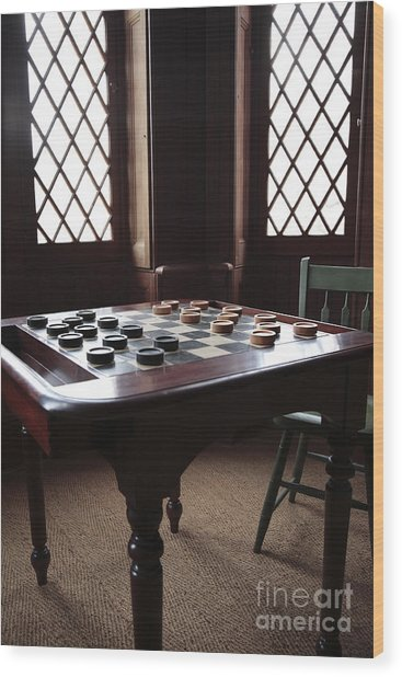 Checkers Table At The Lincoln Cottage In Washington Dc Wood Print