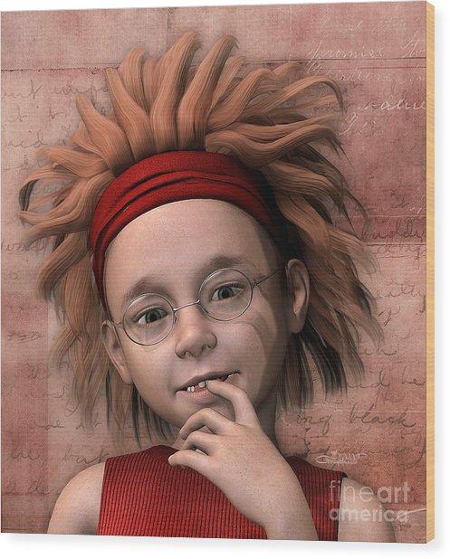 Cheeky Little Miss Wood Print
