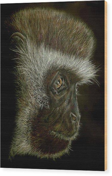 Cheeky Monkey Wood Print