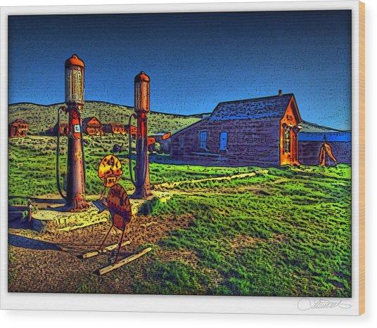 Cheerful Abandonment Wood Print by Lar Matre