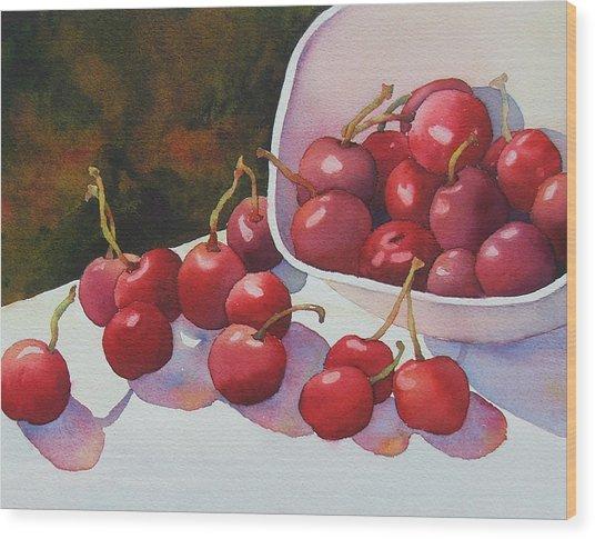 Cheery Cherries Wood Print