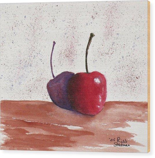 Cheery Cherry Wood Print by Rich Stedman