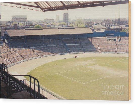 Chelsea - Stamford Bridge - South Terrace - Shed End - April 1986 Wood Print