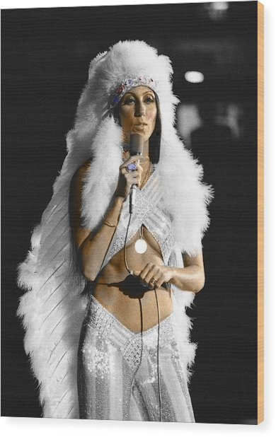 Cher #2 Wood Print