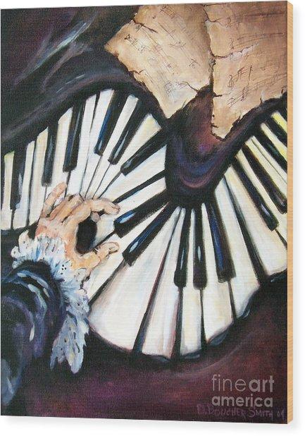 Cherished Music Wood Print