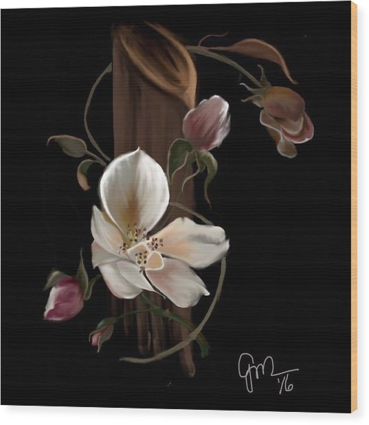 Cherokee Rose Wood Print