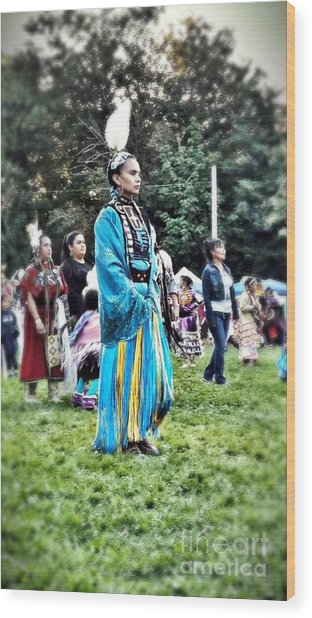 Cherokee Warrior Wood Print