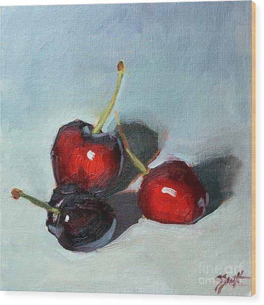 Cherries Jubillee Wood Print