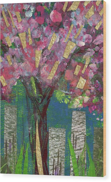 Cherry Blossom Too Wood Print