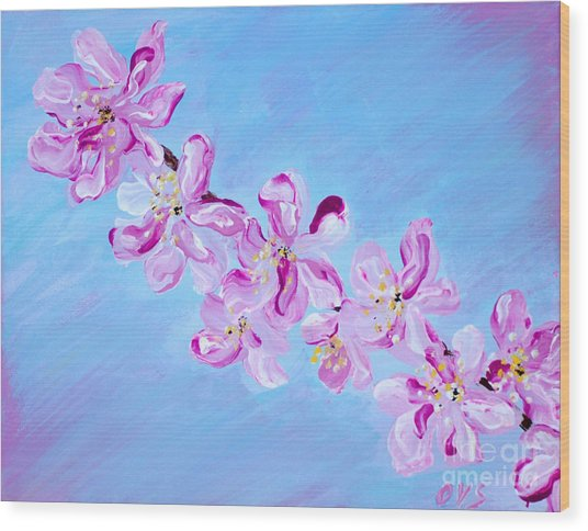Cherry Blossoms. Thank You Collection Wood Print