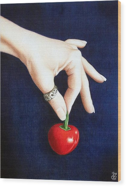 Cherry Bomb Wood Print